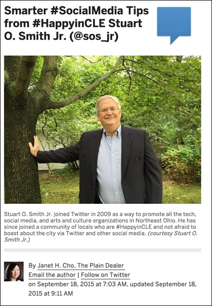 Smarter #SocialMedia Tips from #HappyinCLE Stuart O. Smith Jr. (@sos_jr)