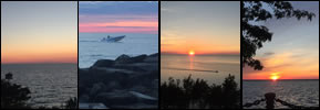 Four Days of Fun -- Four Lake Erie Sunsets