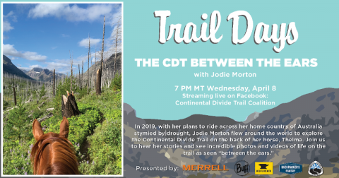 "Virtual Trail Days: CDT Between the Ears with Jodie ""Green, Gold and Blues"" Morton"