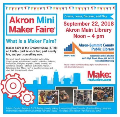 Akron Library Mini Maker Faire 2018