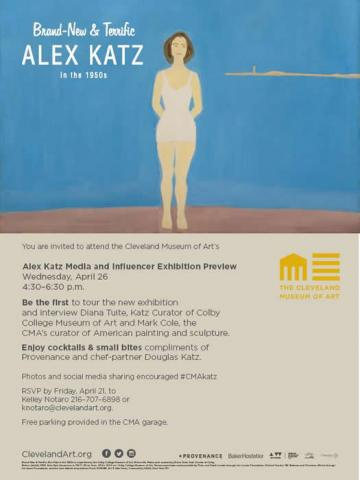 Alex Katz Media and Influencer Exhibition Preview Invitation