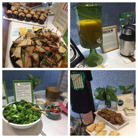 Cosmic Bobbins had a very impressive display of partner organizations' foods and information!