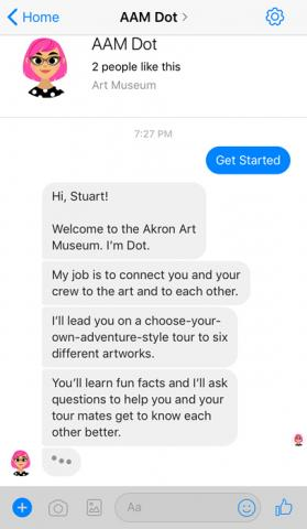 Dot welcomes Stuart to the Akron Art Museum