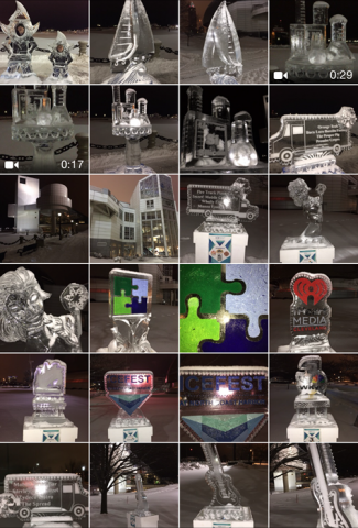 2015 Ice Fest at North Coast Harbor Ice Sculptures