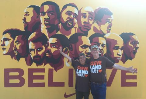 Julie & Stuart at the Cleveland Cavaliers NBA Championship Parade & Rally