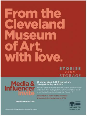 "Cleveland Museum of Art's Media and Influencer Invitation to #WithLoveFromCMA ""Stories from Storage"" Opening"