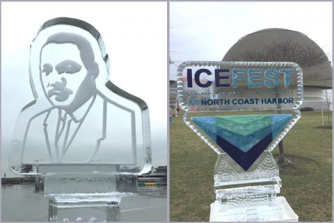 2017 North Coast Harbor Ice Fest, and Science Center and Rock Hall Free for MLK Day