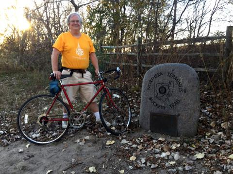 "I finished the Buckeye Trail ""Little Loop"" where I began, at the Northern Terminus"