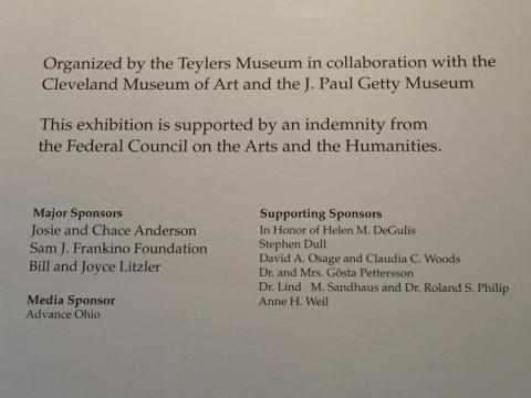 Thank you, sponsors and organizers of Michelangelo: Mind of the Master