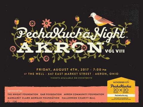 Friday, August 4, 2017, PechaKucha Night Akron at The Well