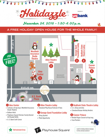 PlayhouseSquare Holidazzle 2018 Activity Map