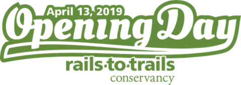 Rails-to-Trails Conservancy Opening Day for Trails! Saturday, April 13, 2019.
