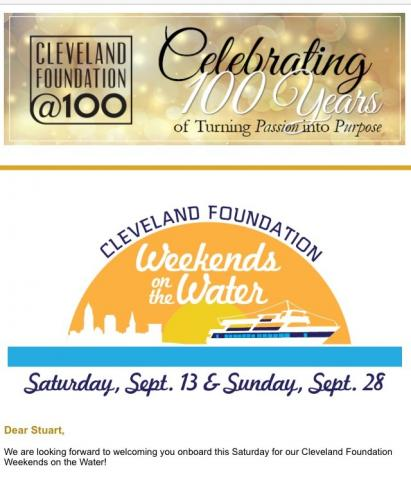 Cleveland Foundation Centennial Gift: Weekends on the Water