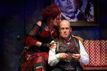 Sara M. Bruner (as Mrs. Lovett) and Tom Ford (as Sweeney Todd)