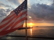 Sunset and Flag from LeanDog Software/Arras Keathley Agency Boat