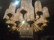 Georges Chevalier designed this Baccarat crystal chandelier for the 1925 Paris exposition.