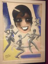 Parisian artist Paul Colin captured the likeness of Josephine Baker of the Revue Nègre.