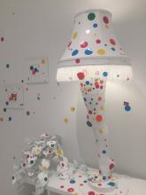 Cleveland Connection -- Leg Lamp in The Obliteration Room at Yayoi Kusama: Infinity Mirrors