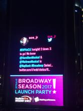 Our @sos_jr tweet up in lights on PlayhouseSquare's BIG outdoor sign!