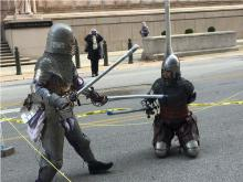 Fighting knights from the Barony of the Cleftlands - Society for Creative Anachronism.
