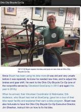 Thank you to Ohio City Bicycle Co-Op for help in fixing Stuart's bike!