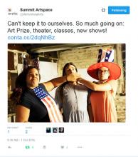 Like many of our adventures, it all started with a tweet!  Akron Art Prize 2016
