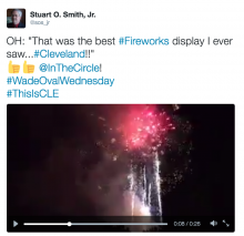 """That was the best fireworks display I ever saw"""
