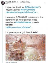We did get our Yayoi Kusama: Infinity Mirrors tickets!!!